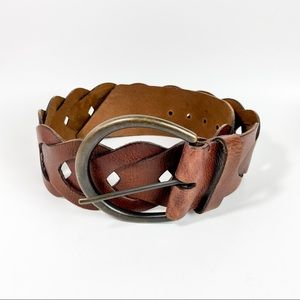 Preston & York Brown Braided Leather Belt